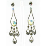 Jewelry by HH Womens JE-X002737 black diamond Beaded   Earrings Jewelry