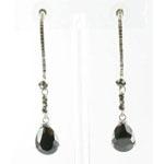 Jewelry by HH Womens JE-X003116 black diamond Beaded   Earrings Jewelry