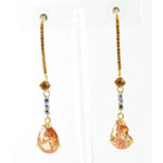 Jewelry by HH Womens JE-X003116 topaz Beaded   Earrings Jewelry