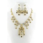 Jewelry by HH Womens NS-H1959 bronze Beaded   Necklaces Jewelry