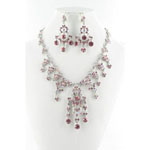 Jewelry by HH Womens NS-H1959 pink Beaded   Necklaces Jewelry