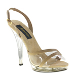 Johnathan Kayne Womens Swimsuit Taupe Satin Sandals Prom and Evening Shoes