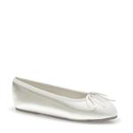 Touch Ups Girls Childrens Ballet White Satin Ballet Flower Girls Shoes