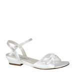 Touch Ups Girls Abigail White Satin Sandals Flower Girls Shoes