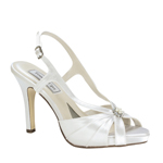 Touch Ups Girls Brie White Satin Peep/Open Toe Wedding Shoes