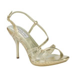 Touch Ups Womens Fortuna Gold Glitter Sandals Prom and Evening Shoes