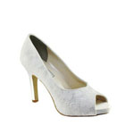 Touch Ups Womens Catalina White Satin Pumps Wedding Shoes
