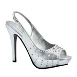Touch Ups Womens Brooke Silver Metalllic Platforms Prom and Evening Shoes