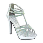 Touch Ups Womens Toni Silver Metalllic Platforms Prom and Evening Shoes