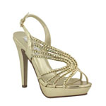 Touch Ups Womens Stephanie Gold Metalllic Pumps Prom and Evening Shoes