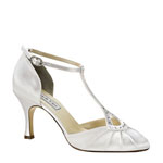 Touch Ups Womens Katherine White Satin Pumps Wedding Shoes