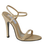 Touch Ups Womens Genesis Taupe Leather Sandals Prom and Evening Shoes