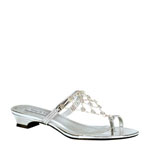 Touch Ups Womens Marcella Silver Metalllic Sandals Prom and Evening Shoes
