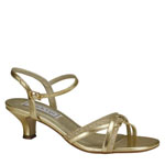 Touch Ups Womens Melanie Gold Glitter Sandals Prom and Evening Shoes