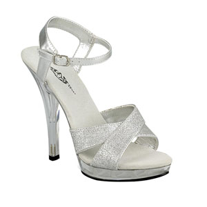 Lava Shoes Womens Essence Silver Glitter Sandals Prom and Evening Shoes
