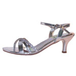 Coloriffics Womens Maryann Silver Synthetic Sandals Prom and Evening Shoes