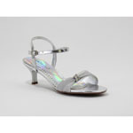 Coloriffics Womens SIENNA SILVER Satin Sandals Prom and Evening Shoes