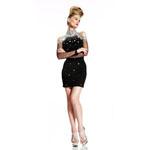 Johnathan Kayne Womens 402 Black Jersey  Prom Dresses