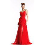 Johnathan Kayne Womens 455 Red Synthetic  Prom Dresses