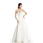 Johnathan Kayne Womens 486 Ivory Synthetic  Prom Dresses