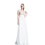 Johnathan Kayne Womens 500 White Chiffon  Prom Dresses