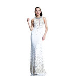 Johnathan Kayne Womens 505 WhiteGold Jersey  Prom Dresses