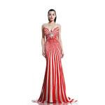 Johnathan Kayne Womens 509 RedNude Jersey  Prom Dresses