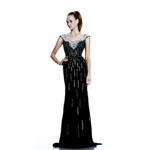 Johnathan Kayne Womens 519 Black Jersey  Prom Dresses