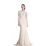 Johnathan Kayne Womens 519 Champagne Jersey  Prom Dresses
