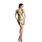 Johnathan Kayne Womens 531 Gold Jersey  Prom Dresses