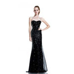 Johnathan Kayne Womens 533 Black Sequin  Prom Dresses