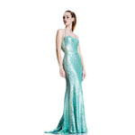 Johnathan Kayne Womens 533 Mint Sequin  Prom Dresses