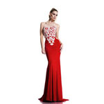Johnathan Kayne Womens 541 Red Jersey  Prom Dresses