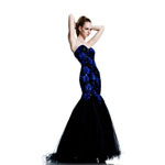 Johnathan Kayne Womens 547 BlackRoyal Sequin  Prom Dresses