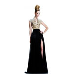 Johnathan Kayne Womens 578 GoldBlack Sequin  Prom Dresses