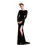 Johnathan Kayne Womens 401 Black Synthetic  Prom Dresses