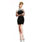Johnathan Kayne Womens 402 Black Jersey  Prom Dresses