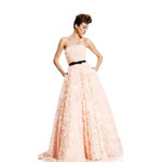 Johnathan Kayne Womens 408 Peach Chiffon  Prom Dresses