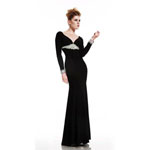 Johnathan Kayne Womens 415 Black Synthetic  Prom Dresses