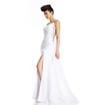 Johnathan Kayne Womens 455 White Synthetic  Prom Dresses