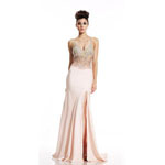 Johnathan Kayne Womens 456 Blush Synthetic  Prom Dresses