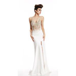 Johnathan Kayne Womens 456 White Synthetic  Prom Dresses