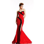 Johnathan Kayne Womens 489 Red Synthetic  Prom Dresses