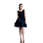 Johnathan Kayne Womens 563 Navy Lace  Prom Dresses