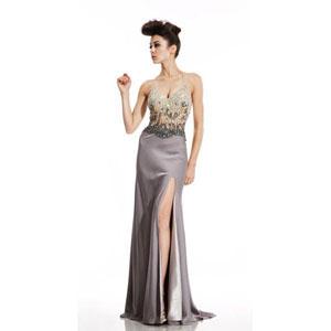 Johnathan Kayne Womens 456 Gunmetal Synthetic  Prom Dresses