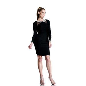 Johnathan Kayne Womens 558 Black Jersey  Prom Dresses