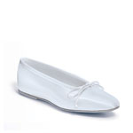 Dyeables Womens 1000 White Satin Ballet Wedding Shoes