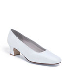 Dyeables Womens Grace White Silk Pumps Wedding Shoes