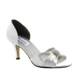 Dyeables Womens Dixie White Satin Sandals Wedding Shoes