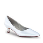 Dyeables Womens Abbey White Satin Pumps Wedding Shoes